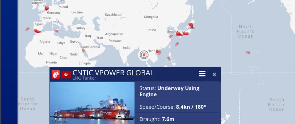 Live Map Small LNG Carriers